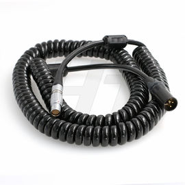 China 24V Teradek ARRI Camera Cable , 8 Pin Female to XLR 3-pin Male Coiled Power Cable factory